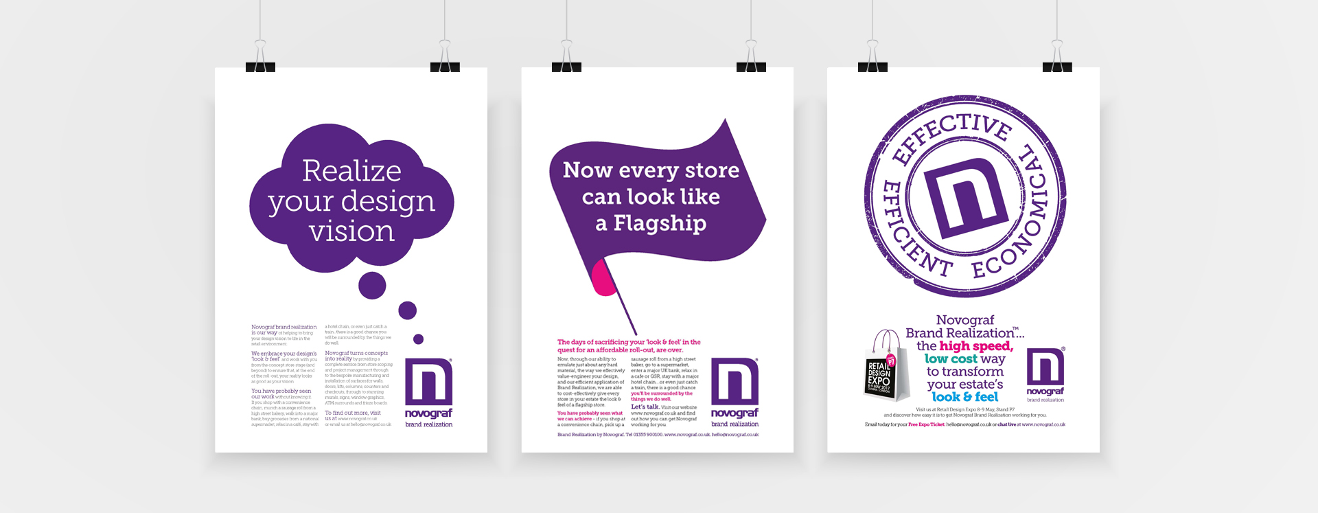 Wee Creative branding and graphic design for retail outlets.